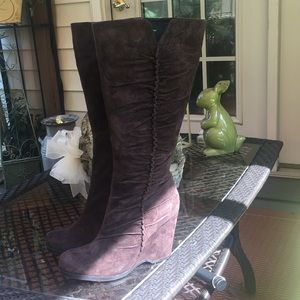 Beautiful MIA Brown Suede (Genuine Leather) Boots